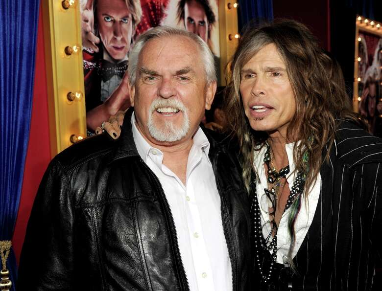 Actor John Ratzenberger (L) and musician Steven Tyler attend the premiere of Warner Bros. Pictures'