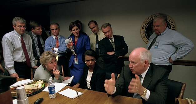 Vice President Dick Cheney takes charge of the White House team immediately after the Sept. 11, 2001, terror attacks. Photo: David Bohrer, Showtime