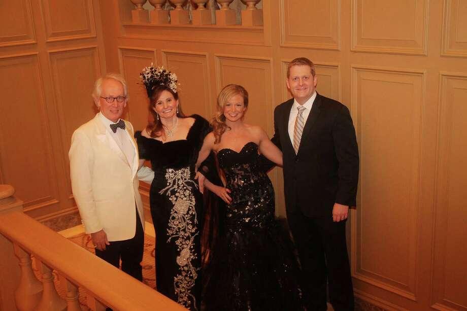 Don and Ann Short, left, and Jennifer and Josh Gravenor. Photo: Da Camara