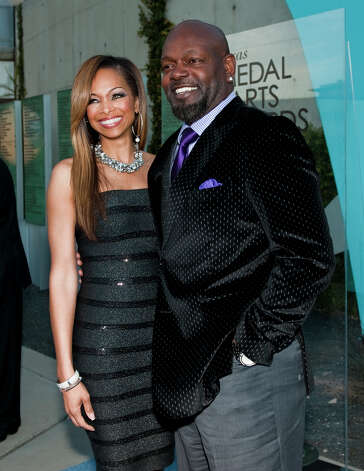 Emmitt Smith and his wife, Patricia Southall Photo: Ashley Landis, Contributor / copyright 2013 Ashley Landis
