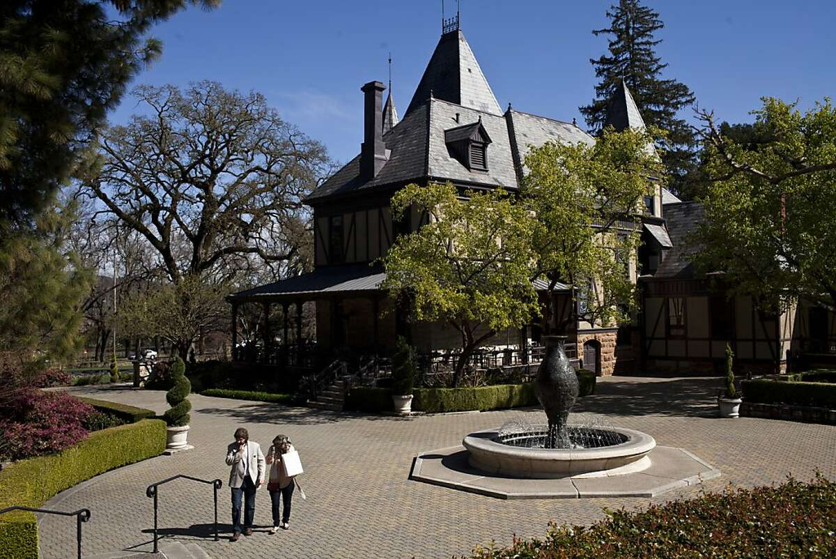 The Rhine House at Beringer Vineyards, which is listed on the National Register of Historic Places, in St. Helena, Calif., Friday, March 8, 2013.