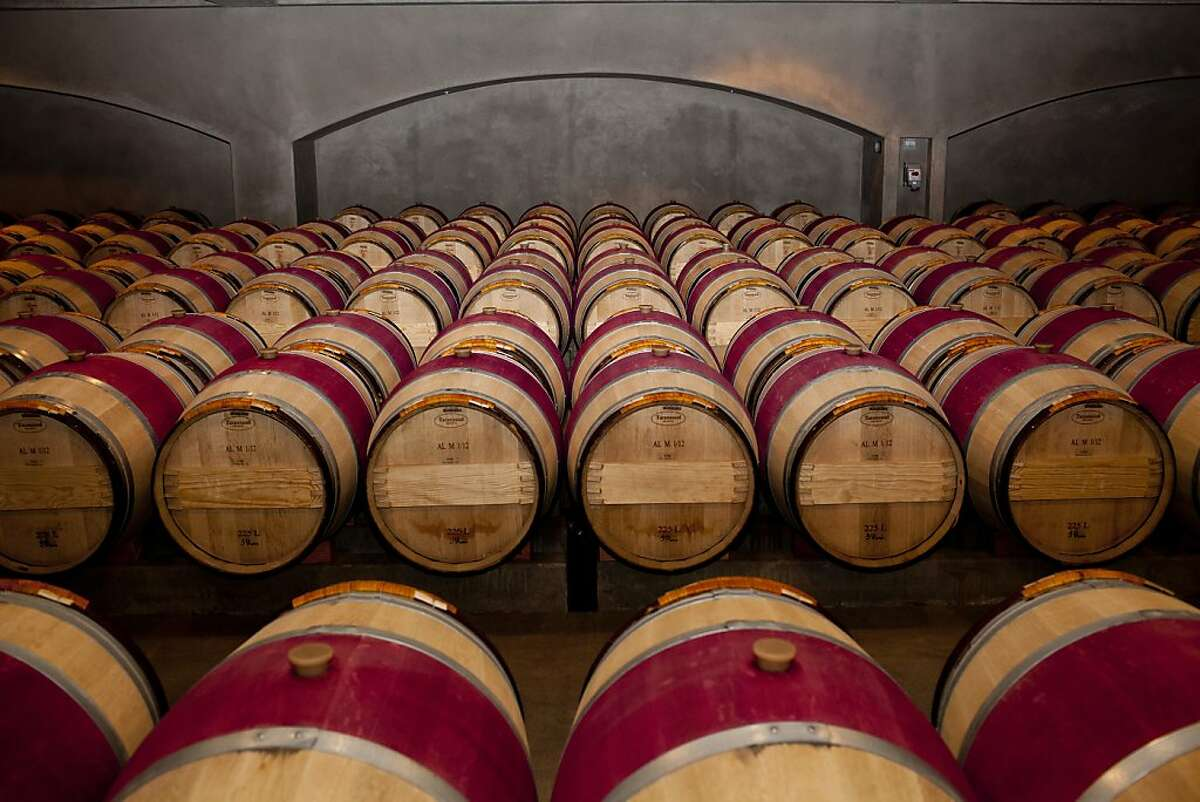 Inside a barrel aging room for cabernet sauvignon at the Robert Mondavi Winery in Napa, Calif., Friday, March 8, 2013.
