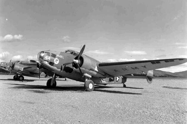 The U.S. Army Air Corps converted 24 Lockheed A-29s for use in photo reconnaissance, aerial surveying and mapping. The conversion process included the removal of all armament and the addition of cameras, associated mounting and operating hardware and optically flat glass panels. The airplanes were designated A-29B. Photo: U.S. Air Force
