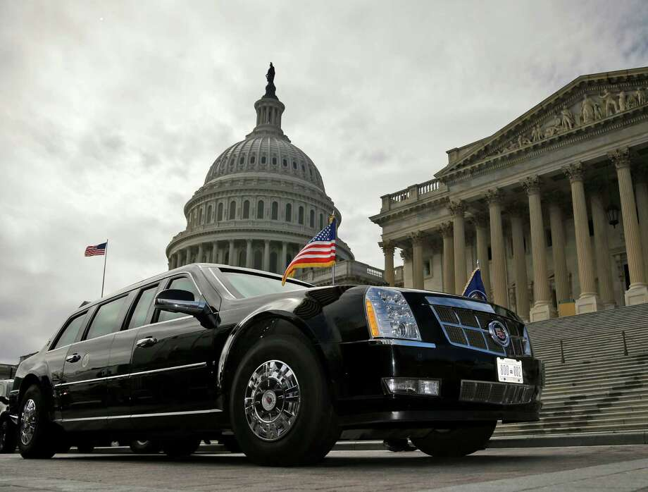 3.The cost of the presidential limousine, nicknamed The Beast, is presumed to be about $1 million to $1.5 million. The exact cost is classified. Photo: Pablo Martinez Monsivais, STF / AP