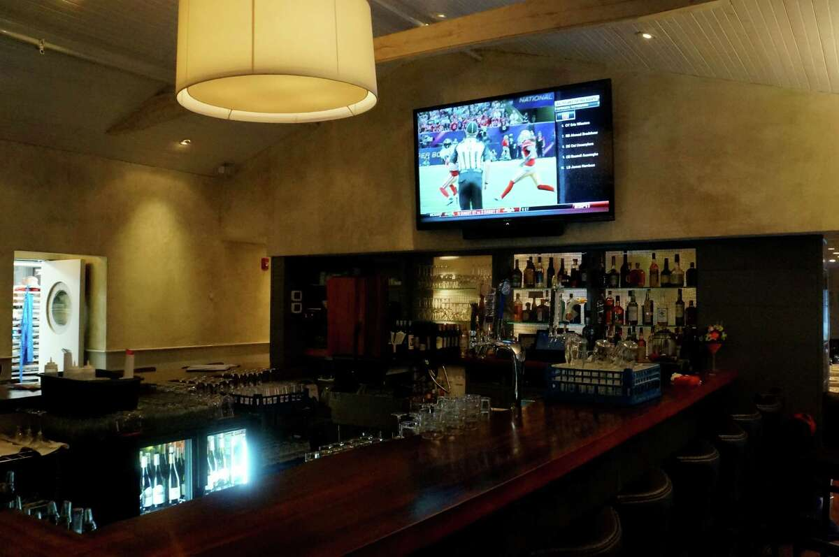 The bar at the new restaurant, 323 Main, which opened for business Tuesday evening. WESTPORT NEWS, CT 3/12/13