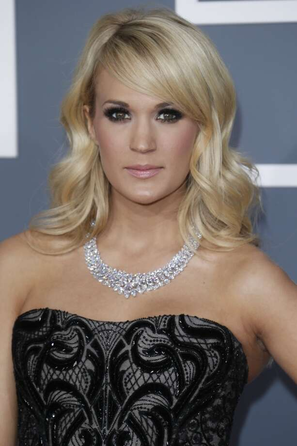 Carrie Underwood, at the 2013 Grammys.