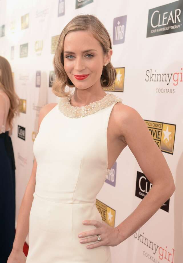 Emily Blunt in 2013, at the Critics' Choice Movie Awards.