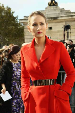Leelee Sobieski in 2013, at the Christian Dior show at Paris Fashion Week.