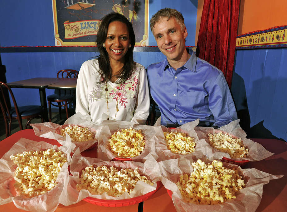 Christel and Colin MacLean, owners of Circus Cafe in Saratoga Springs, N.Y., tested microwaved popcorn at their restaurant on Friday April 15, 2011. (Lori Van Buren / Times Union) Photo: Lori Van Buren / 00012768A