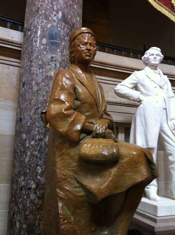 Firmin and Eugene Daub's bronze Rosa Parks statue. Photo: Courtesy Of Eugene Daub