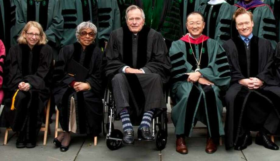 Former President George H.W. Bush has inspired Crazy Sock Day at the SHO. Photo: Handout
