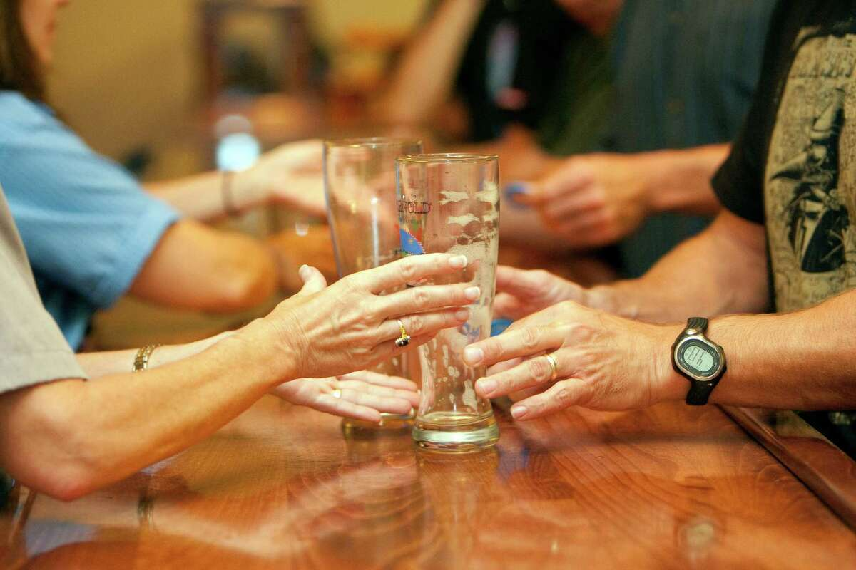 Texas beer lovers may soon find their favorite pub brews being sold in stores and bars. Beer lovers take the $7 brewery tour at Saint Arnold Brewing Company, which is everyday but Sunday, where each guest is given four beer samples and a beer education Friday, Sept. 24, 2010, in Houston. ( Johnny Hanson / Houston Chronicle )