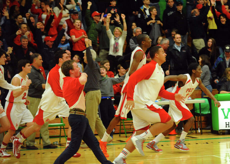 Class LL boys basketball semifinal action between Fairfield Prep and East Hartford in Waterbury, Conn. on Tuesday March 12, 2013. Photo: Christian Abraham / Connecticut Post