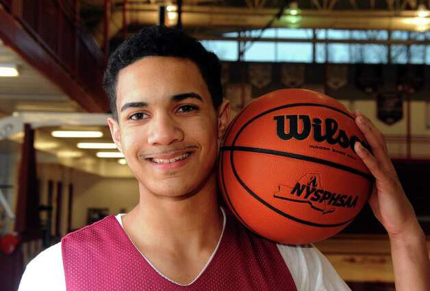 Watervliet High School basketball guard Ty'Jon Gilmore on Tuesday March 12, 2013 in Watervliet, N.Y. (Michael P. Farrell/Times Union) Photo: Michael P. Farrell