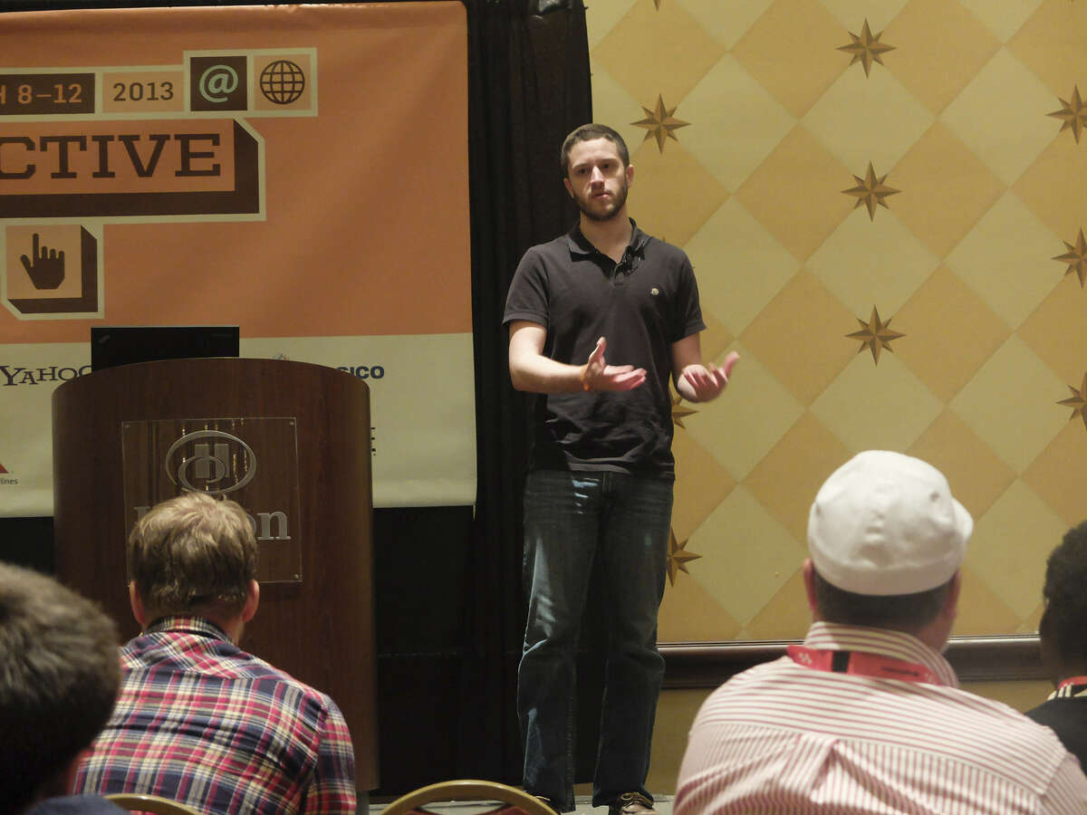 UT law student Cody Wilson, founder of Defense Distributed, presents Defcad.com at South by Southwest Interactive in Austin. The site, he said, would provide a channel to any product design.