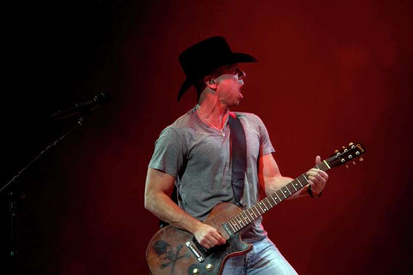 Kenny Chesney performs at the Houston Livestock Show & Rodeo at Reliant Stadium on Tuesday, Marc