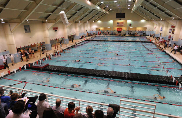 Class LL boys swimming championship at Wesleyan University, Middletown, Conn., Tuesday, March 12, 2013. Photo: Bob Luckey / Greenwich Time