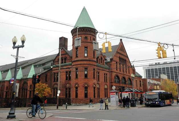 Washington Avenue Armory Thursday, Oct. 25, 2012, in Albany, N.Y. Large rave-like dance parties are not allowed in the Washington Avenue Armory, the city?s Board of Zoning Appeals ruled Wednesday night. (Michael P. Farrell/Times Union archive) Photo: Michael P. Farrell / 00019847A
