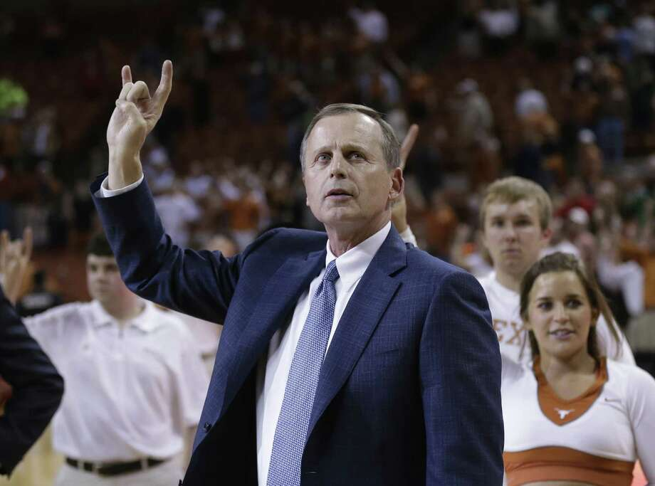 UT coach Rick Barnes says his sub.-500 team can win four games at the Big 12 tourney, starting tonight, and earn an NCAA berth. Photo: Eric Gay / Associated Press