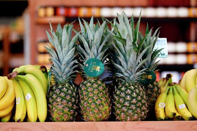 Pineapples for sale at  the new Bi-Rite market at 550 Divisadero on Tuesday, March 12. Photo: Beck Diefenbach, Special To The Chronicle / ONLINE_YES