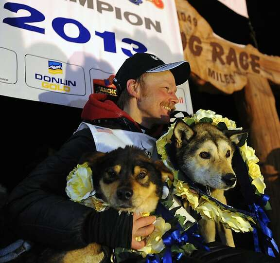 Mitch Seavey became the oldest winner and a two-time Iditarod champion when he drove his dog team un