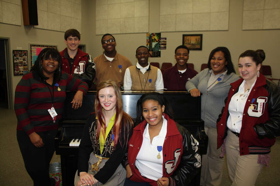 Pictured above, back row,  Victavia Beaty, Sam Mathews, Ketrick Shankle, Jatavium Simmons, JaCarie Burnham, Felicia Adams, Katherine Padgett. Photo: Courtesy Photo