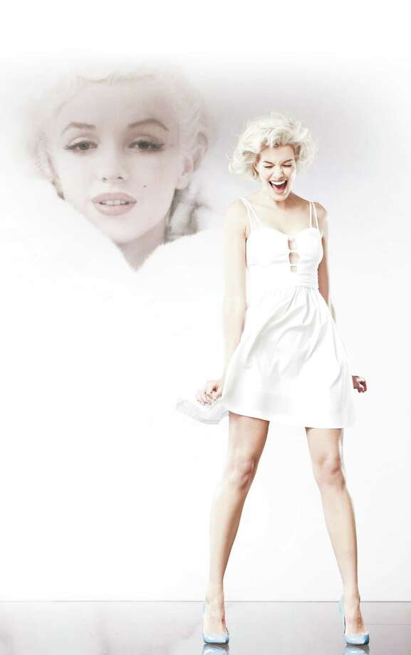 Flirty white peek-a-boo dress from Macy's Marilyn Monroe Collection, $69.50.