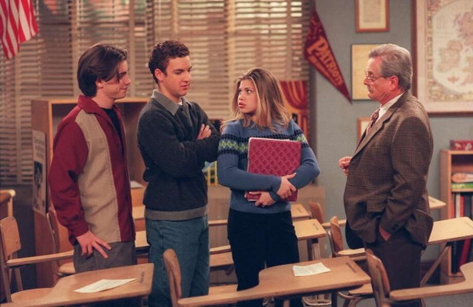 Will Friedle, Ben Savage and Danielle Fishel on Boy Meets World in 2001. (Scott Humbert/Disney ABC Television Group)
