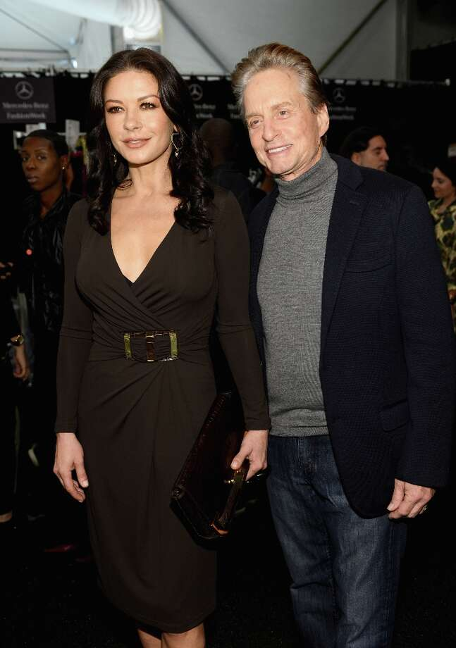 Catherine Zeta-Jones, 43, and husband Michael Douglas, 68. Photo: Dimitrios Kambouris, Getty Images For Michael Kors / 2012 Getty Images