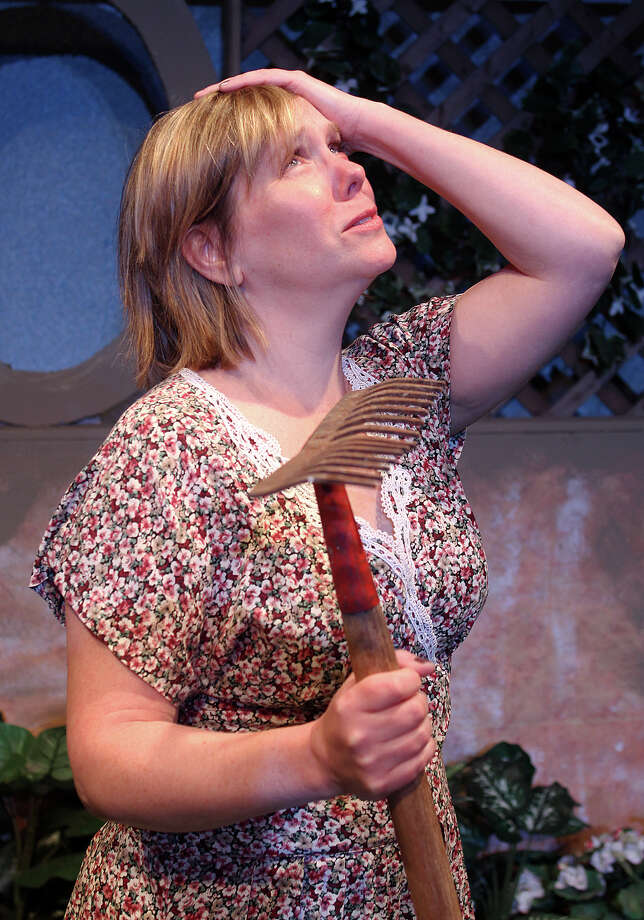 TOM KILLIPS Amy M. LANE plays Susan, a housewife with family problems who finds herself drifting into a Walter Mitty-like fantasy life, in Schenectady Civic Players? staging of ?Woman In Mind.?