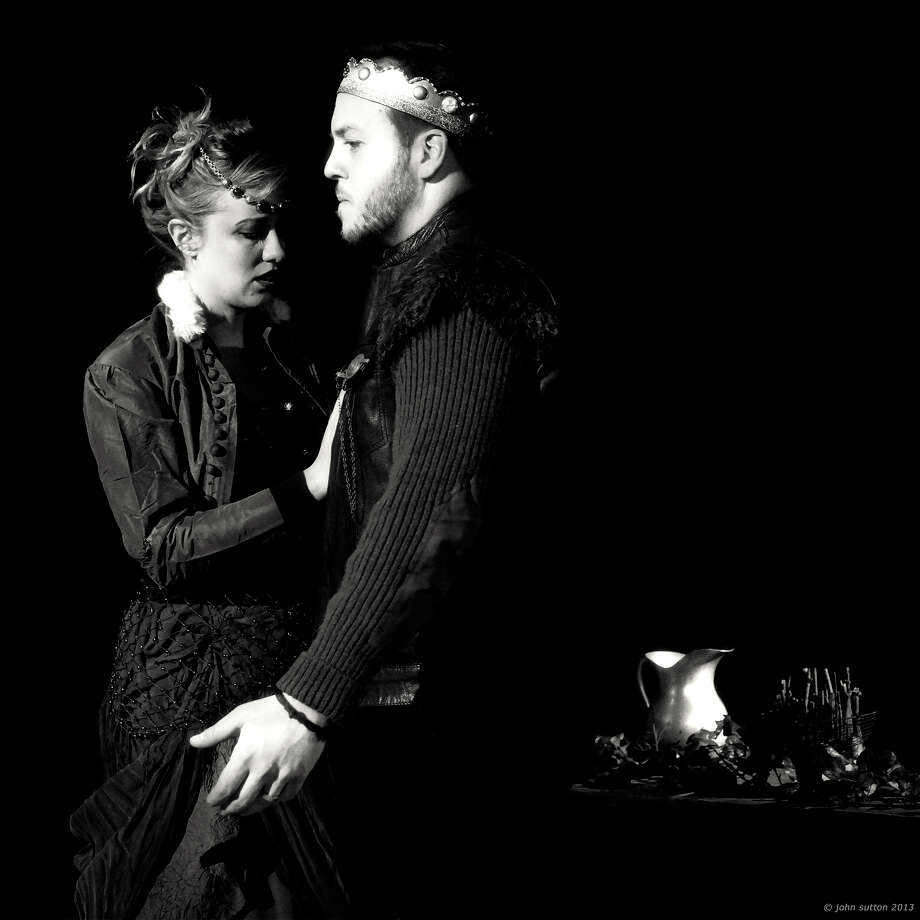 "Betsy Holt and Gino Costabile in the Theater Company at Hubbard Hall's production of ""Macbeth"" (John Sutton)"