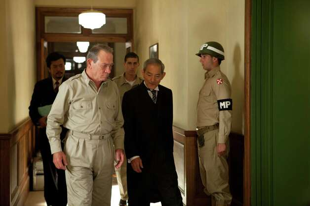 Tommy Lee Jones (left) and Isao Natsuyagi (right) in Peter Webber's EMPEROR. Photographer: Kirsty Griffin/Roadside Attractions Photo: Kirsty Griffin / Fellers Film LLC