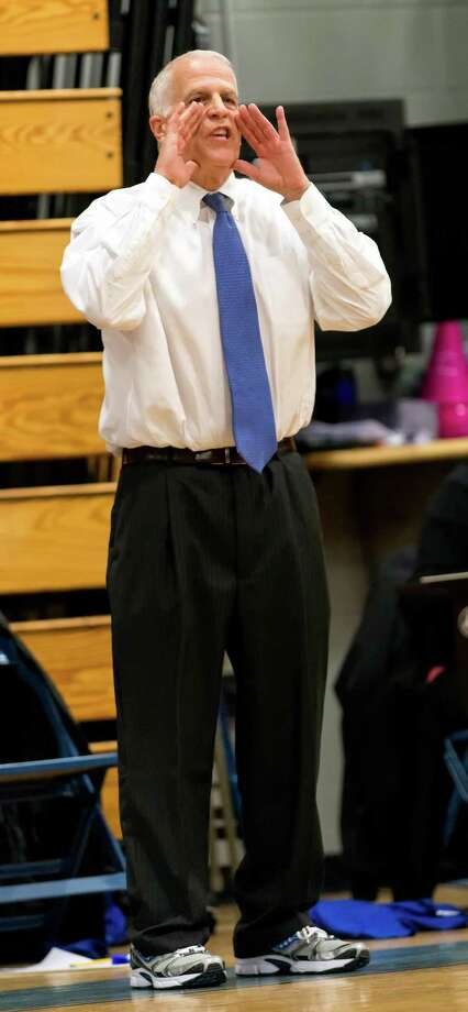 Fairfield Ludlowe high school head coach Brian Silvestro, pictured during his club's Jan. 29 game against Fairfield Warde, announced his resignation Tuesday. Photo: Mark Conrad / Connecticut Post Freelance