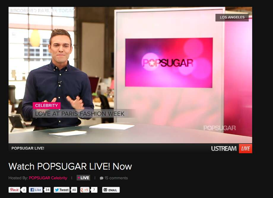 POPSUGAR LIVE! includes twice-daily 20-30 minute shows filmed in studios in Los Angeles, New York and San Francisco.