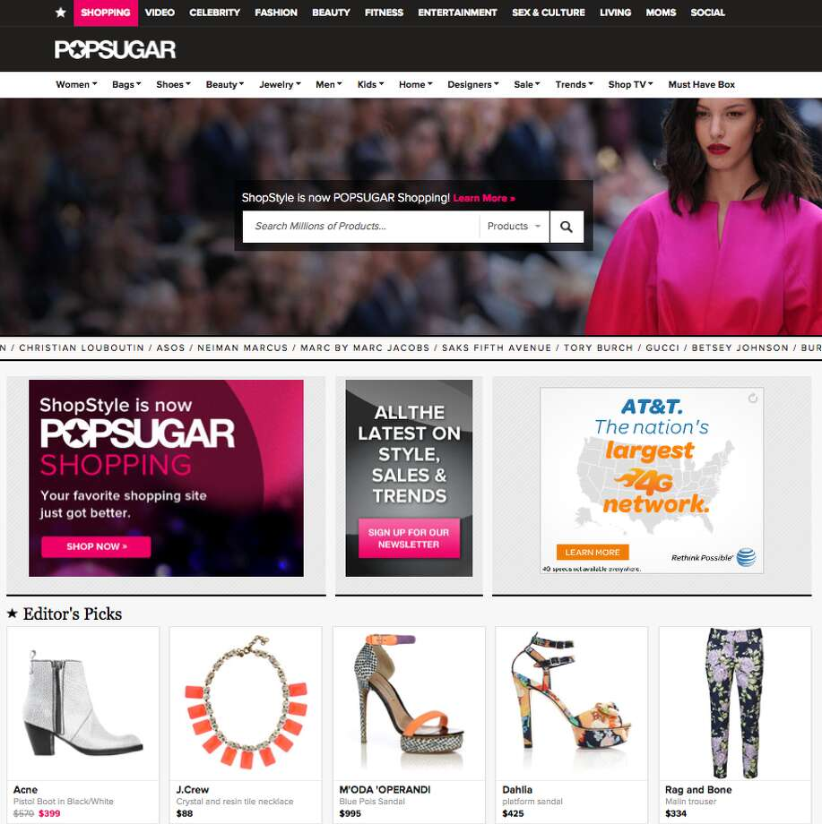 Formerly Shopstyle, POPSUGAR Shopping partners with retailers like Macy's, Neiman Marcus and NORDSTROM.