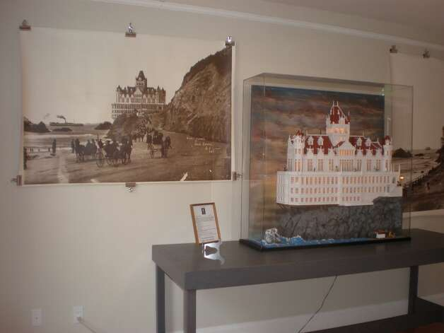 Large scale replica of the Cliff House, courtesy of miniaturist, Charlie Moran.
