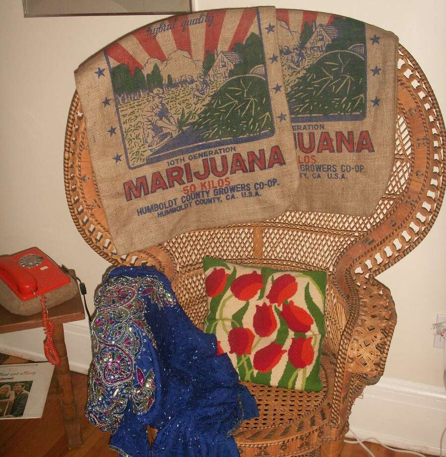 San Francisco History Museum hippie era room (detail).