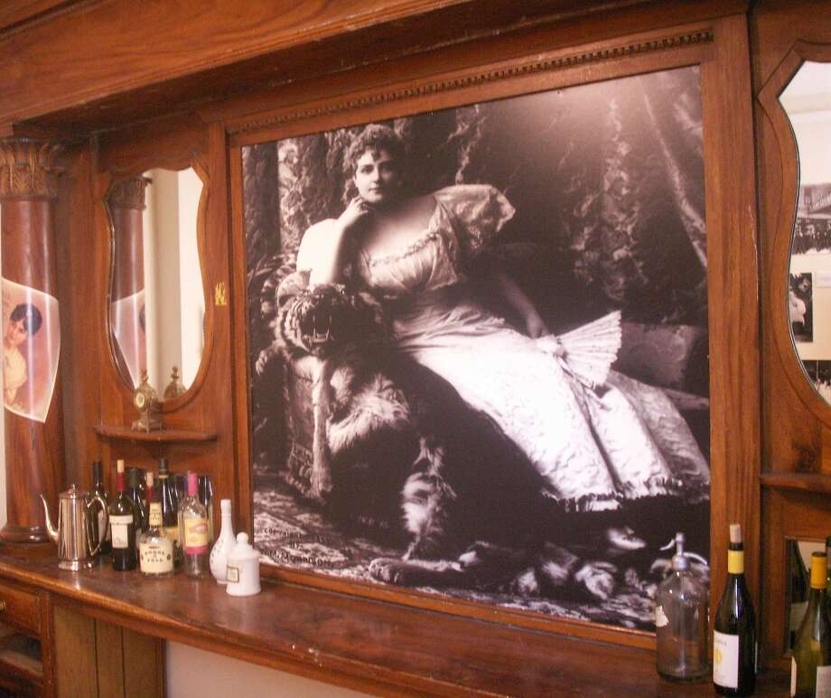 Barbary Coast room. Pictured on the bar back is Lillian Russell.