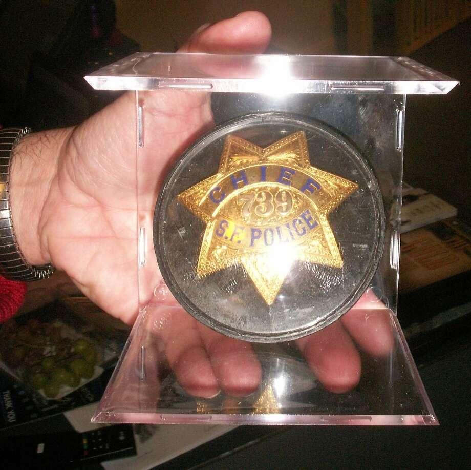 Former mayor Frank Jordan's police badge.