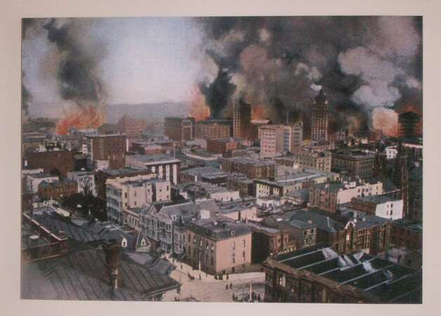 San Francisco earthquake photo, courtesy of Gladys and Richard Hansen.