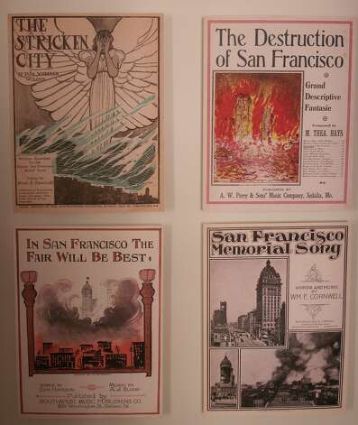 San Francisco earthquake items, from the collection of Gladys and Richard Hansen.