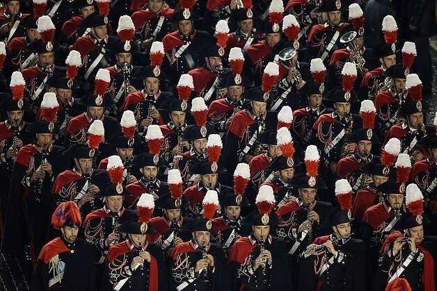 VATICAN CITY, VATICAN - MARCH 13:  A marching band perfroms before the introduction of  Pope Francis I at Peter's Basilica on March 13, 2013 in Vatican City, Vatican.  Argentinian Cardinal Jorge Mario Bergoglio was elected as the 266th Pontiff and will lead the world's 1.2 billion Catholics.  (Photo by Joe Raedle/Getty Images) Photo: Joe Raedle, Getty Images