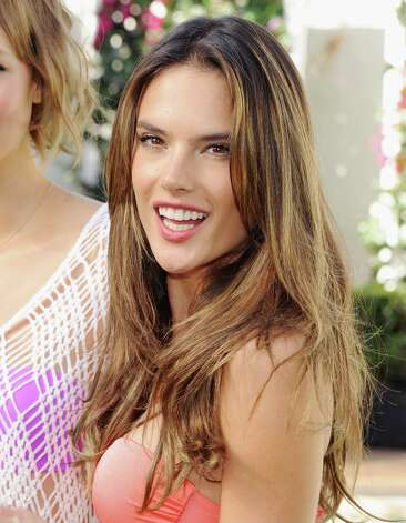 Victoria's Secret model Alessandra Ambrosio poses at the Victoria's Secret 2013 Swim Collection Debut on March 12, 2013 in Los Angeles, California. Photo: Jon Kopaloff, FilmMagic / 2013 Jon Kopaloff