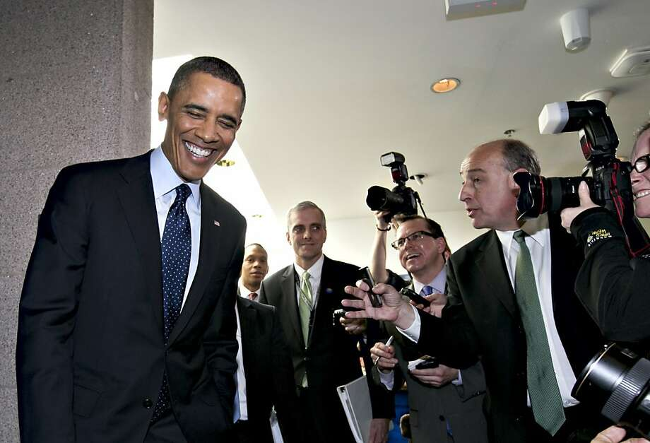 President Obama leaves Capitol Hill after meeting with GOP House members. Photo: J. Scott Applewhite, Associated Press