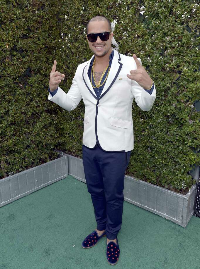 Sky Blu arrives at the 13th annual Latin Grammy Awards held in November. Sky Blu is appearing on Sunday at Cowboys Dancehall. Photo: Rodrigo Valera / Wire Image