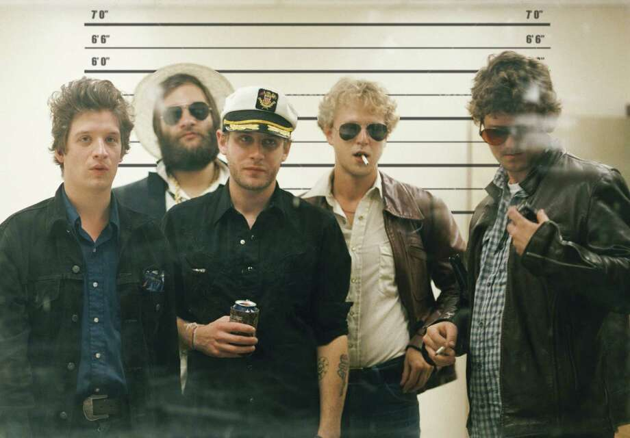 Ian O'Neil (from left), Dennis Ryan, John McCauley, Chris Ryan and Robbie Crowell are Deer Tick. Photo: Courtesy Photo