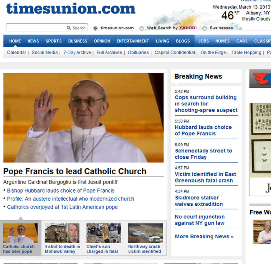 Finally, the wires move photos of Pope Francis. Quick update of the pic and the headline.