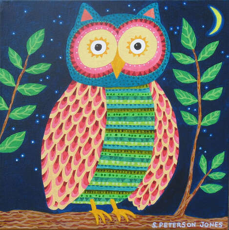 "Stephanie Peterson Jones' ""Owl"" will be featured in the art & design show at the Burr mansion March 22-24 in Fairfield. Photo: Contributed Photo / Connecticut Post Contributed"