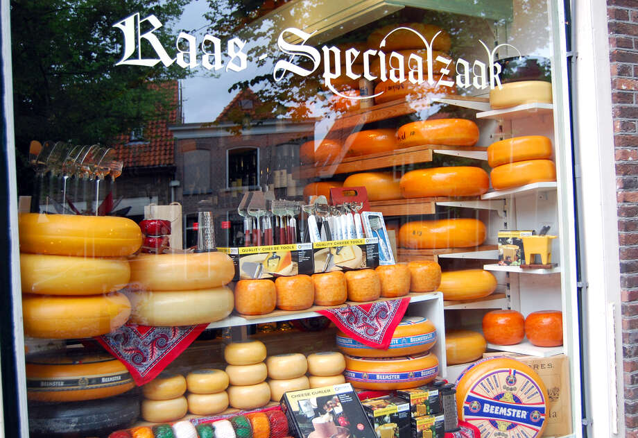 Shops in the Dutch town of Edam proudly display the local specialty — Edam cheese.  (photo by Cameron Hewitt) Photo: Ricksteves.com