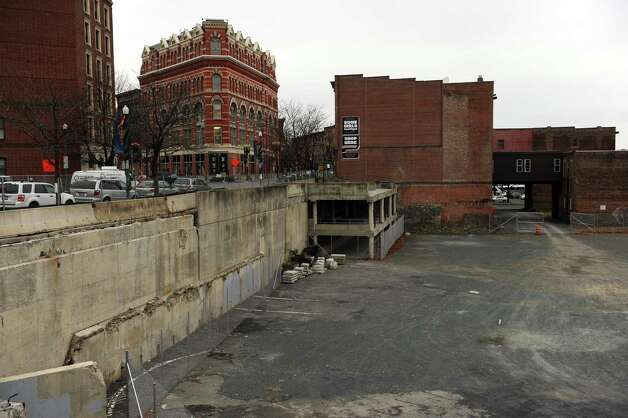 The former Troy City Hall site on River Street in Troy, NY Friday Nov. 30, 2012. (Michael P. Farrell/Times Union) Photo: Michael P. Farrell / 00020324A